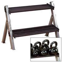 Rastrelliere e supporti per dischi Bodysolid Dual Dumbell and Kettlebell Rack