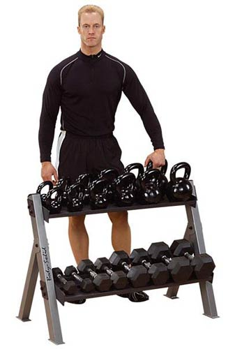 Bodysolid Dual Dumbell and Kettlebell Rack