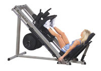 Panche cosce e polpacci Leg Press e Hack Squat 45 gradi Bodysolide Club Line - Fitnessboutique