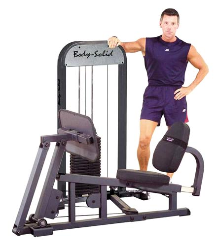 Bodysolid LEG PRESS W/210LB COLONNA