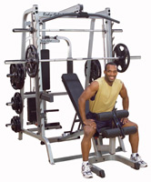 Smith Machine e Squat Smith Serie 7 Full Option Bodysolid - Fitnessboutique