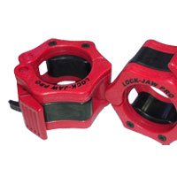 Olimpici - Diametro 51mm Bodysolid Clip olimpici Collar Red/Black
