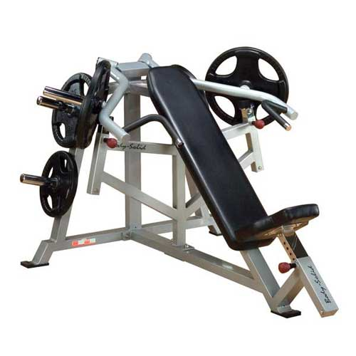 Bodysolide Club Line Pro Leverage Panca Inclinata Press per Braccia
