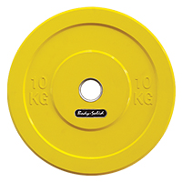 Olimpici - Diametro 51mm Bodysolid Olympic Bumper Plate Yellow 10 kg