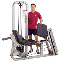 Panche cosce e polpacci Bodysolide Club Line Leg Press Machine Press per Cosce Orizzontale