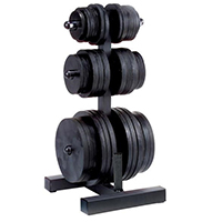 Rastrelliere e supporti per dischi Olympic Weight Tree & BarHolder Bodysolid - Fitnessboutique