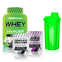 Whey Proteine FITNESSBOUTIQUE HARDER Pack Harder Bodytime