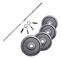 Standard - Diametro 28mm Kit Bilanciere di 1,52 m + Pesi 40 kg Fitness Doctor - Fitnessboutique