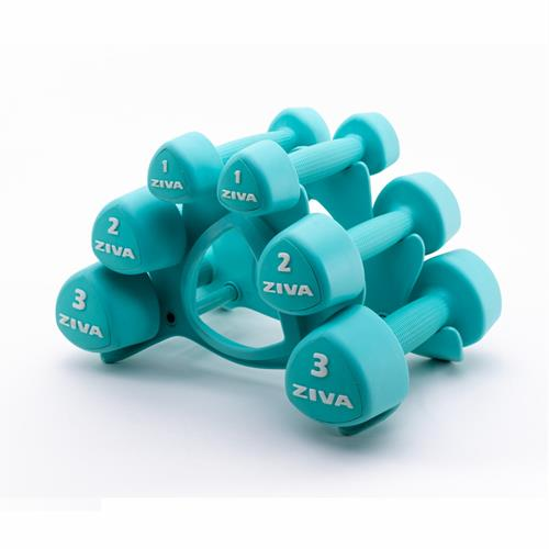 Manubri Ziva STUDIO TRIBELL DUMBELLSET (2 x 1kg, 2kg and 3kg)